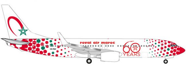 herpa 531153 Royal Air Maroc B737-800 Anniversary | WINGS 1:500