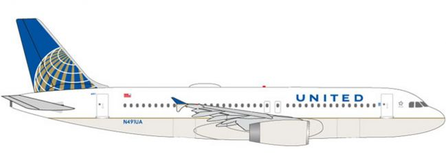 herpa 531252 United Airlines Airbus A320 | WINGS 1:500