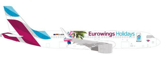 herpa 531276 Eurowings Airbus A320 Holidays | WINGS 1:500