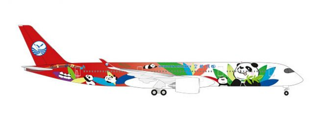 herpa 531474 Airbus A350-900 Sichuan Airlines Flugzeugmodell 1:500