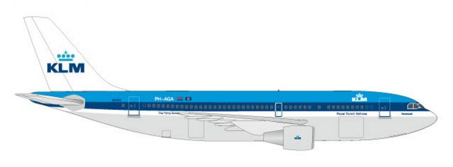herpa 531573 Airbus A310-200 KLM Flugzeugmodell 1:500