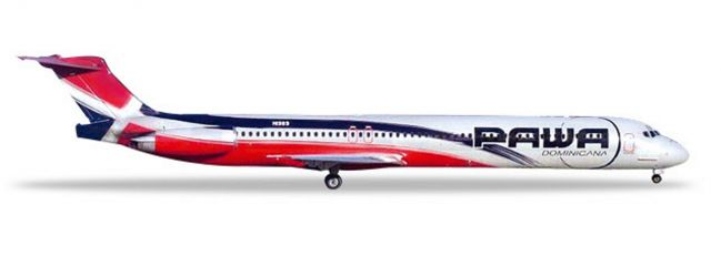 herpa 531603 McDonnell Douglas MD-83 PAWA Dominica Flugzeugmodell 1:500