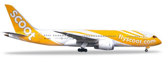 herpa 531627 Boeing 787-8 Dreamliner Scoot Kama Scootra Flugzeugmodell 1:500