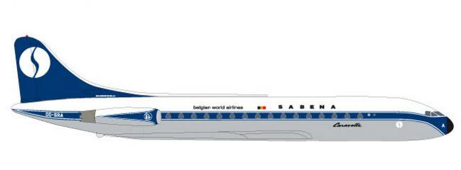 herpa 531672 Sud Aviation Caravelle Sabena Flugzeugmodell 1:500