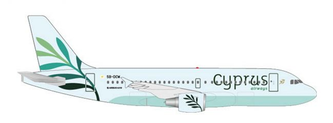 herpa 531757 Airbus A319 Cyprus Airways Flugzeugmodell 1:500