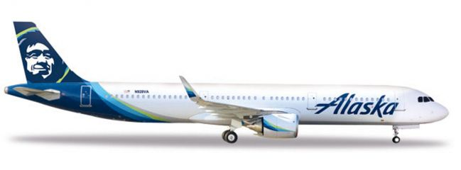 herpa 531894 Airbus A321neo Alaska Airlines Flugzeugmodell 1:500