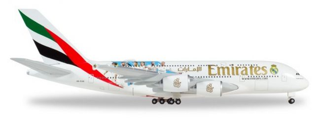 herpa 531931 Airbus A380 Emirates Real Madrid 2018 Flugzeugmodell 1:500