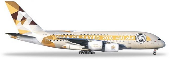 herpa 531948 Airbus A380 Etihad Year of Zayed Flugzeugmodell 1:500