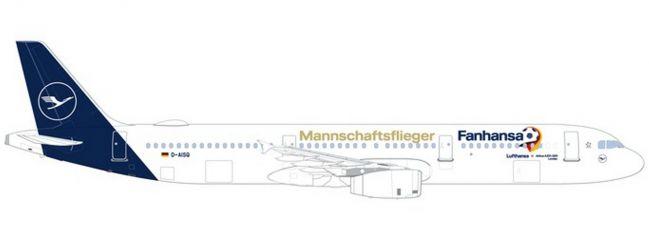herpa 531979 Airbus A321 Lufthansa Fanhansa Mannschaftsflieger 2018 Flugzeugmodell 1:500