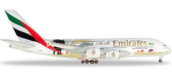 herpa 532723 Emirates Airbus A380 United for Wildlife A6-EER | WINGS 1:500