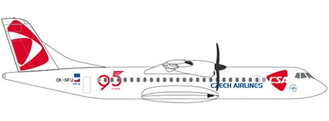 herpa 532792 CSA Czech Airlines ATR-72-500 95 Years | WINGS 1:500