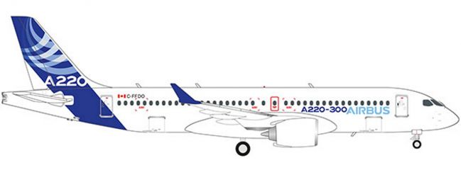 herpa 532822 Airbus A220-300 | WINGS 1:500