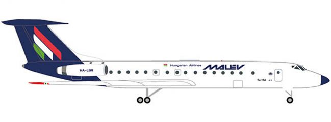 herpa 532914 Malev Hungarian Airlines Tupolev TU-134A | WINGS 1:500