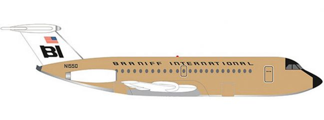 herpa 533003 Braniff International BAC 1-11-200 Jelly bean Ochre | WINGS 1:500