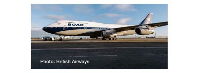 herpa 533317 Boeing 747-400 British Airways 100th anniversary Flugzeugmodell 1:500