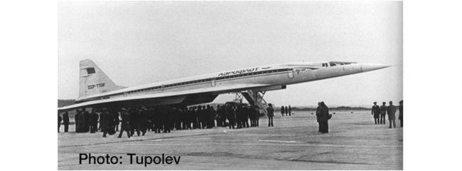 herpa 533324 Tupolev TU-144S Aeroflot Flugzeugmodell 1:500