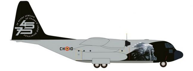 herpa 533379 Lockheed C130 Hercules Belgian Air Component Flugzeugmodell 1:500