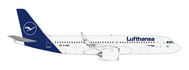 herpa 533386 Airbus A320neo Lufthansa new colors Flugzeugmodell 1:500