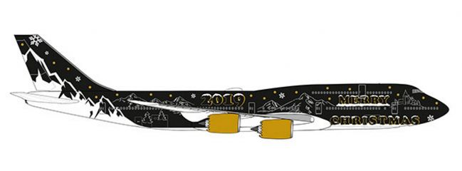 herpa 533553 Boeing 747-8 Intercontinental Christmas 2019 Flugzeugmodell 1:500