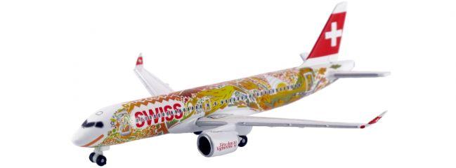 herpa 533584 Airbus A220-300 Swiss International Air Lines Fete des Vignerons Miniaturmodell 1:500