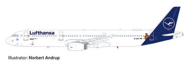 herpa 559959 Airbus A321 Lufthansa Die Maus Flugzeugmodell 1:200