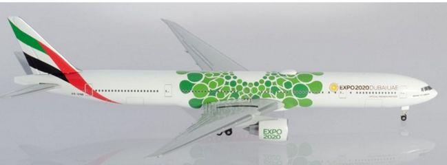 herpa 533720 Boeing 777-300ER Emirates Expo 2020 Sustainability Livery Flugzeugmodell 1:500