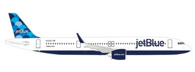 herpa 533805 Airbus A321neo JetBlue Airways  Balloons tail design Flugzeugmodell 1:500