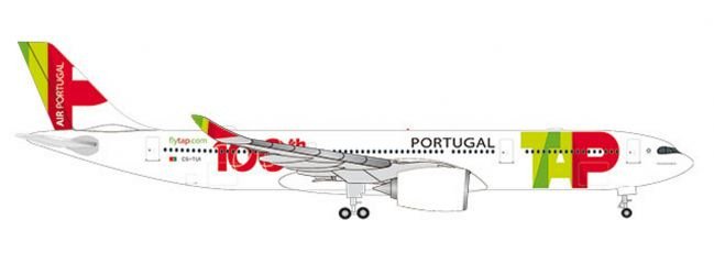 herpa 533843 Airbus A330-900neo TAP Air Portugal 100th Aircraft Flugzeugmodell 1:500