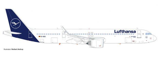herpa 534376 Lufthansa Airbus A321neo D-AIEA Aachen | Flugzeugmodell 1:500