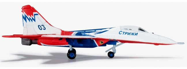 "herpa 552233-001 MiG-29 Russian AF Strizhi ""03"" WINGS-Modell 1:200"