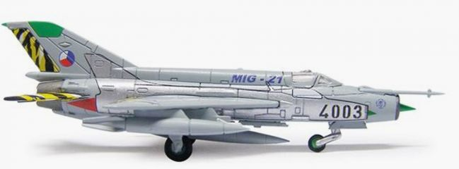 herpa 554930 MiG-21 Czech Air Force Flugzeugmodell 1:200