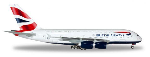 herpa 556040-001 Airbus A380 British Airways neue Kennung Flugzeugmodell 1:200