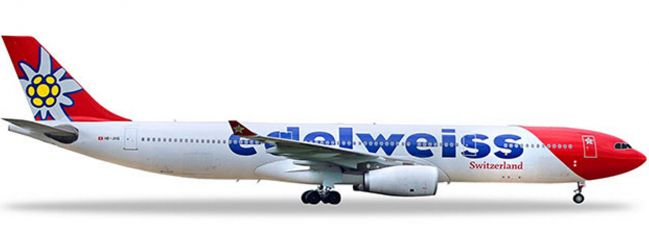 herpa 558129-001 Edelweiss Air Airbus A330-300 HB-JHQ | WINGS 1:200