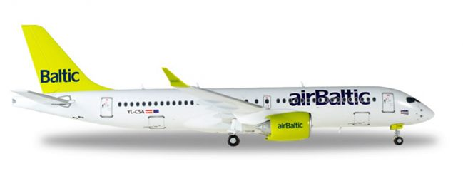 herpa WINGS 558457 Bombardier CS300 Air Baltic Flugzeugmodell 1:200