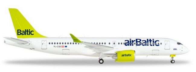 herpa 558457-001 Bombardier CS300 Airbus A220-300 airBaltic Flugzeugmodell 1:200