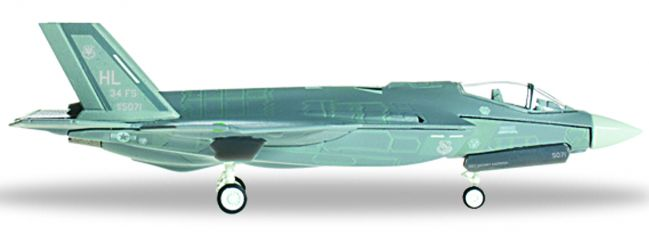 herpa 558525 F-35A USAF 34th FS Rude Rams | WINGS 1:200