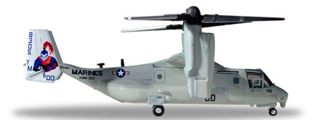 herpa WINGS 558549 Bell Boeing MV-22 Osprey US Marine Corps  Blue Knights Flugzeugmodell 1:200