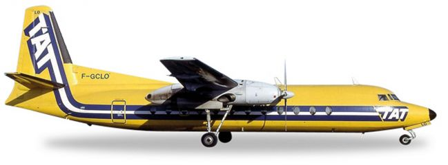 herpa WINGS 558594 Fairchild Hiller FH-227 TAT European Airlines Flugzeugmodell 1:200