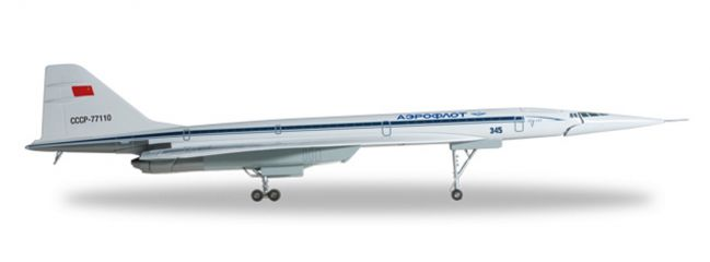 herpa WINGS 558730 Tupolev TU-144S Aeroflot Flugzeugmodell 1:200