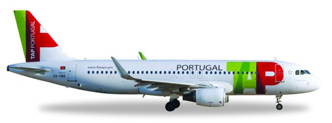 herpa WINGS 558747 Airbus A320 TAP Portugal Flugzeugmodell 1:200