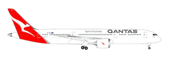 herpa 558778 Boeing 787-9 Dreamliner Qantas new colors Flugzeugmodell 1:200