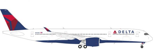 herpa 558815 Airbus A350-900 XWB Delta Air Lines Flugzeugmodell 1:200