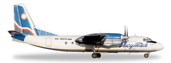 herpa WINGS 558839 Antonov AN-24RV Yakutia Airlines Flugzeugmodell 1:200