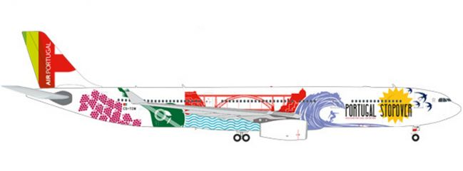 herpa 558945 TAP Portugal Airbus A330-300 Stopover | WINGS 1:200