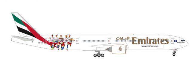 herpa 559034 Boeing 777-300ER Emirates Hamburger SV Flugzeugmodell 1:200