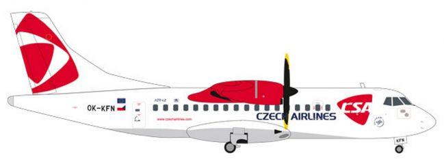 herpa 559256 ATR-42-500 CSA Czech Airlines Flugzeugmodell 1:200