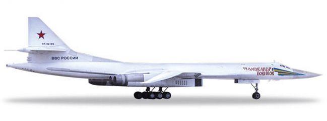 herpa 559287 Tupolev TU-160 Russian Air Force Blackjack/White Swan  A. Novikov Flugzeugmodell 1:200