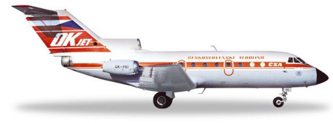 herpa 559348 Yakovlev Yak-40 CSA Ceskoslovenske Airlines Flugzeugmodell 1:200