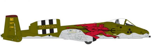 herpa 559362 Fairchild A-10C Thunderbold II US Air Force 107th FS Red Devils 100th Anniversary 1:200