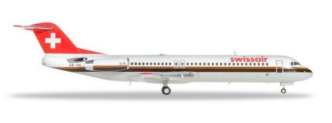 herpa 559386 Fokker 100 Swissair Flugzeugmodell 1:200